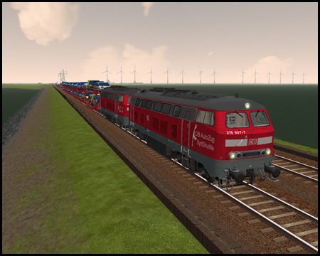 Train simulator Hindenburgdamm SyltShuttle
