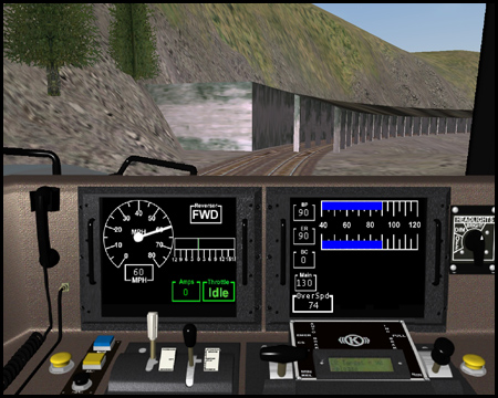 Train Simulator Dash9 Führerstand