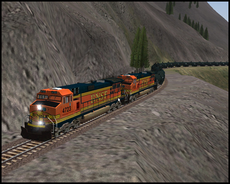 Marias Pass-Strecke im Train Simulator